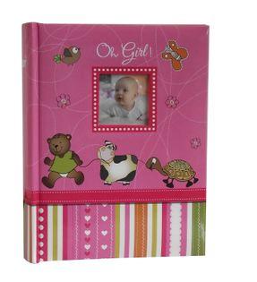 ALBUM DZIECKA, albumy dziecięce 300 zdjęć 10x15 cm opis AC różowy