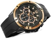 Zegarek Męski Gino Rossi Czarny Złoty