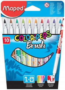 Maped Flamastry Colorpeps Brush 10 kolorów
