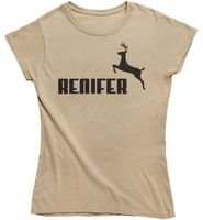 Koszulka damska RENIFER na święta prezent choinka