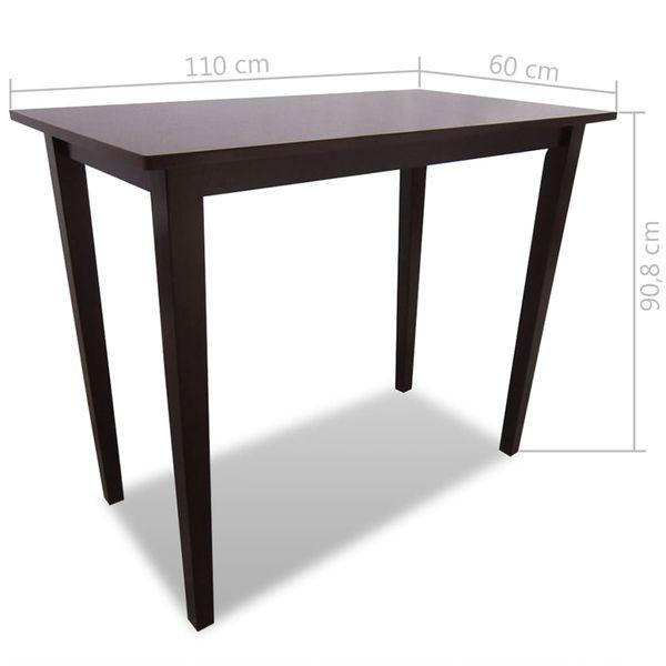 Drewniane, brązowe meble barowe: stół i 4 krzesła zdjęcie 8