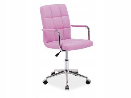 Fotel Q-022 do biurka dla dziecka RÓŻOWY obrotowy