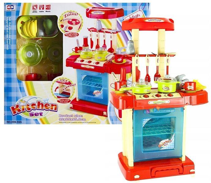 Kuchnia dla dzieci w walizce Piekarnik Zlew Akcesoria kuchenne U07 zdjęcie 11