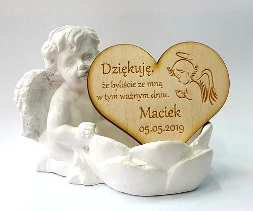 Podziękowanie Gości I Komunia Chrzest Serce Magnes z woreczkiem ozdobn na Arena.pl