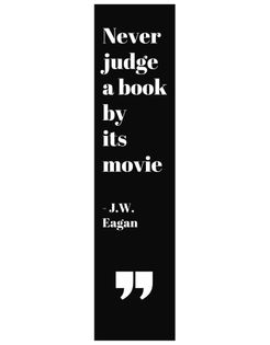 Elegancka zakładka do książki laminowana z cytatem