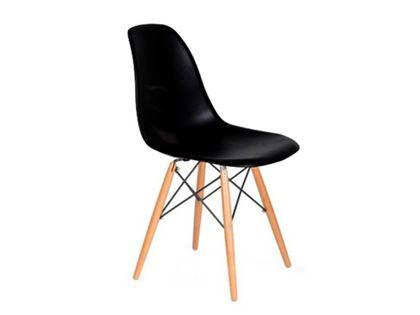 Krzesło MILANO czarne nowoczesne salonu kuchni eames DSW DAW