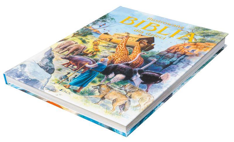 ILUSTROWANA BIBLIA DLA DZIECI z grawerem PREZENT NA CHRZEST KOMUNIĘ zdjęcie 6
