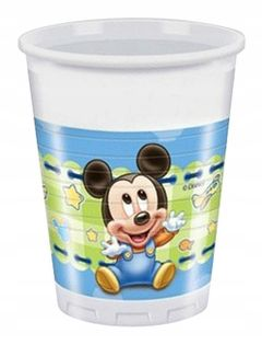 KUBECZKI Mickey Baby Roczek Urodziny 8szt