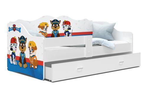 Łóżko dziecięce materac szuflada 160x80 NELI białe