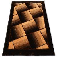 Dywan SHAGGY SOFT - 3D TY132 brąz 140x190 cm brąz