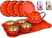 Mtalowy serwis dla dzieci do herbaty 16 elementów X07