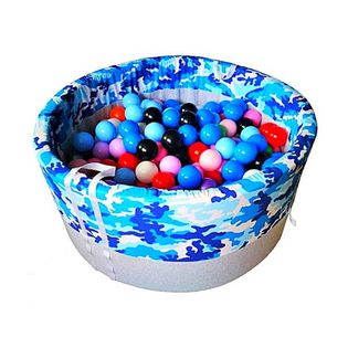 Suchy basen z kulkami 200 szt okrągły 90×40 cm – Moro niebieskie