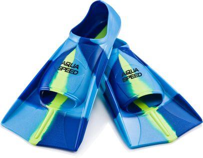 Płetwy treningowe 31/32-37/38 Rozmiar - Płetwy - 31/32 (210-215 mm), Kolor - Płetwy - Płetwy treningowe - 82 - niebieski / jasnoniebieski / fluo zielony