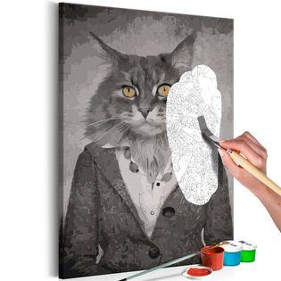 Obraz do samodzielnego malowania - Elegancki kot
