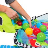 Duża Mata Edukacyjna Żółwik 3w1 Kojec z piłeczkami zdjęcie 3