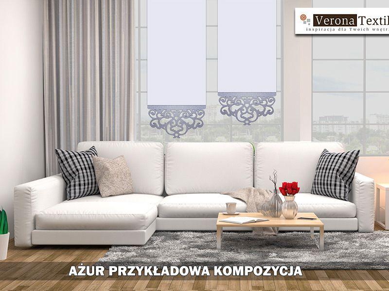 Ażur Firanka Firana Gotowa Ekran Panel60cm Nowość Laura Firanylaleli
