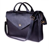 Felice damska skórzana torba na laptopa czarna