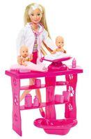 SIMBA Lalka Steffi Love Baby Doctor pediatra z dwoma niemowlakami 573-2608