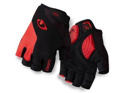 Rękawiczki męskie GIRO STRADE DURE SG krótki palec black bright red roz. XXL (obwód dłoni od 267 mm / dł. dłoni od 211 mm) (NEW)