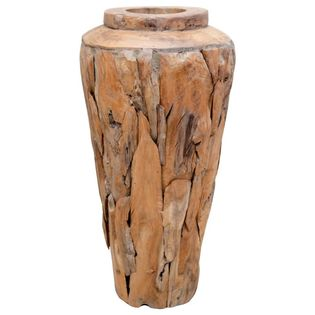 Lumarko Wazon dekoracyjny, 40x60 cm, lite drewno tekowe