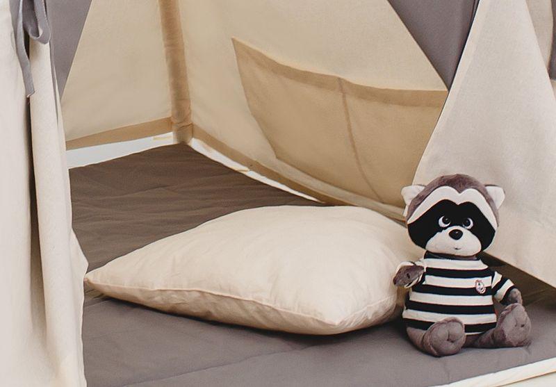 Namiot tipi dla dziecka Naturalna Szarość - zestaw mini zdjęcie 5