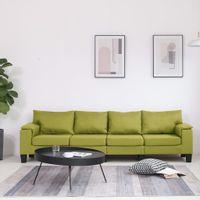 4-osobowa sofa, zielona, tapicerowana tkaniną