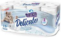 DELICATE White 3 warstwy 16szt - papier toaletowy