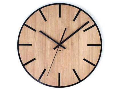 Czarny Drewniany Zegar Ścienny Vintage LOFT Z202 NOWOCZESNY