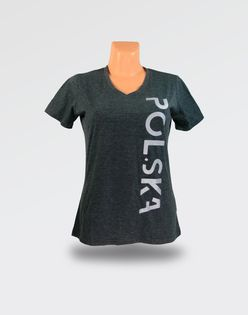 Koszulka damska Polska Melange - XL