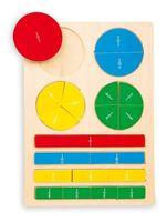 UŁAMKI drewniana UKŁADANKA EDUKACYJNA matematyka