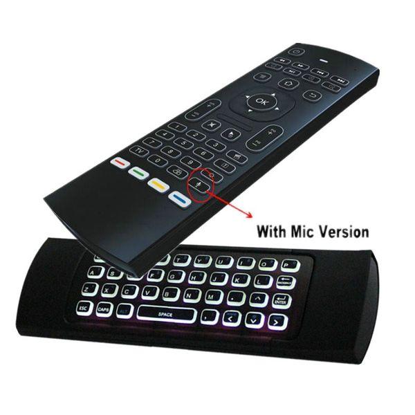 Pilot mx3 mysz powietrzna z podświetleniem do smart tv z mikrofonem 4w1 zdjęcie 3