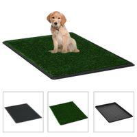 Lumarko Toaleta dla zwierząt z tacą i sztuczną trawą, zieleń, 76x51x3cm