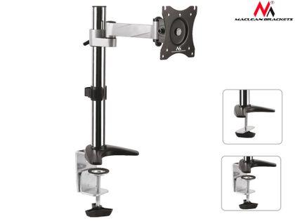 "Uchwyt biurkowy do monitora Maclean MC-717 13-27"" 8kg aluminiowy max VESA 100x100"