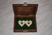 Pudełko na obrączki z grawerem P02
