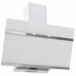 Lumarko Okap kuchenny, 60 cm, stal nierdzewna i hartowane szkło, biały