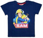 Bluzka Koszulka T-shirt Strażak Sam 122 granat