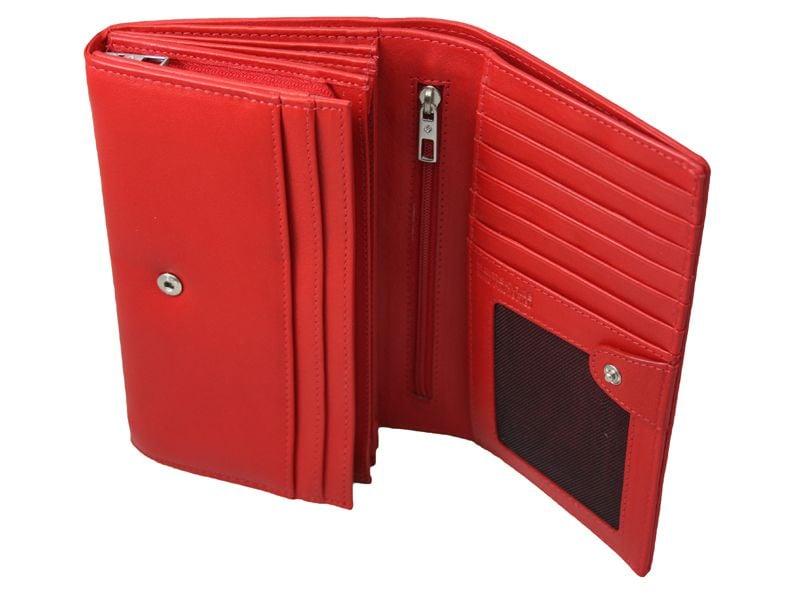 Skórzany, czerwony portfel damski Samsonite RFID zdjęcie 2
