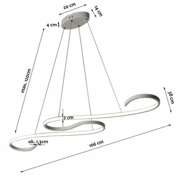 Najnowsze Lampa wisząca TWIST nad stół żyrandol Kinkiet LED 40W slim 665499 RP88
