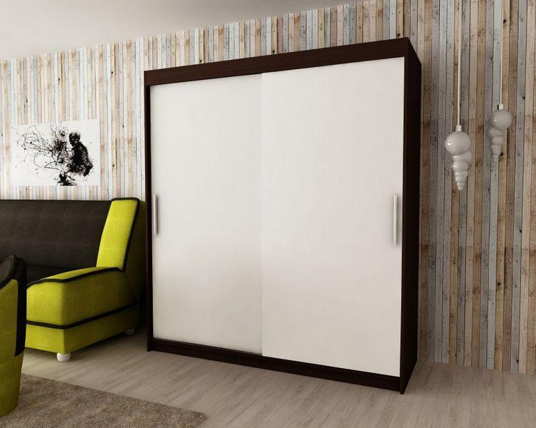 Szafa garderoba przesuwna biała DARO 200 RIBES zdjęcie 9