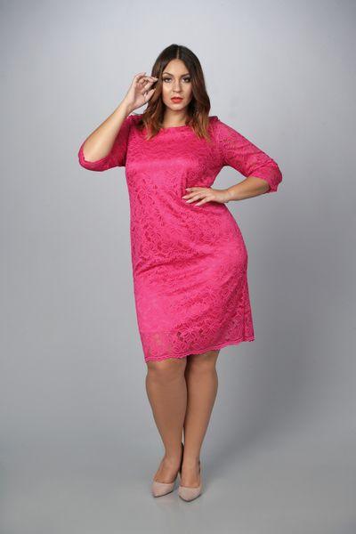 5528014d0e Sukienka LALU ołówkowa koronkowa amarant 42