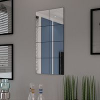 Płytki lustrzane bez ramowe szklane 8 szt 20,5 cm