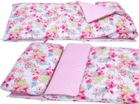 ŚPIWOREK do przedszkola i łóżeczka pościel BOBO różowe kwiaty