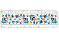 Linijka FOLK - haft kaszubski - biała