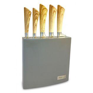 Zestaw 5 Noży W Bloku Z Drewna Lakierowanego 93307
