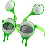 zielone OKULARY imprezowe KOSMITA kosmity OBCY ufo