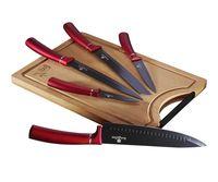 Lumarko zestaw 5 noży kuchennych z deską berlinger haus bh-2552