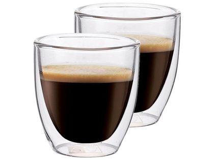 Szklanki Termiczne do Kawy Espresso Herbaty 80ml 2 sztuki