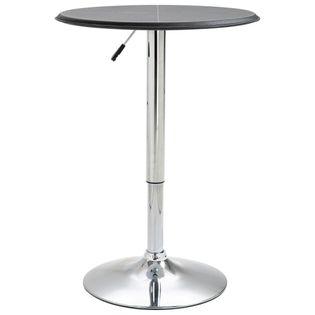 Stolik barowy, czarny, Ø 60 cm, MDF