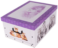 Pudełko Kartonowe Maxi Kotki Fioletowe Piórko