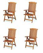 Skladane krzesla ogrodowe z drewna egzotycznego Baltic  5 pozycyjne 4